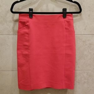 H&M Red Pencil Skirt with Pockets